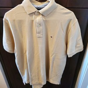 Beige Tommy Hilfiger polo
